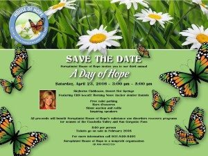 Day of Hope Save the Date Flyer