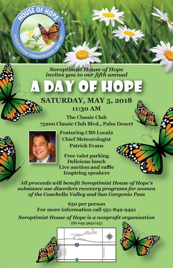 Soroptimist House of Hope, Day of Hope, May 2018
