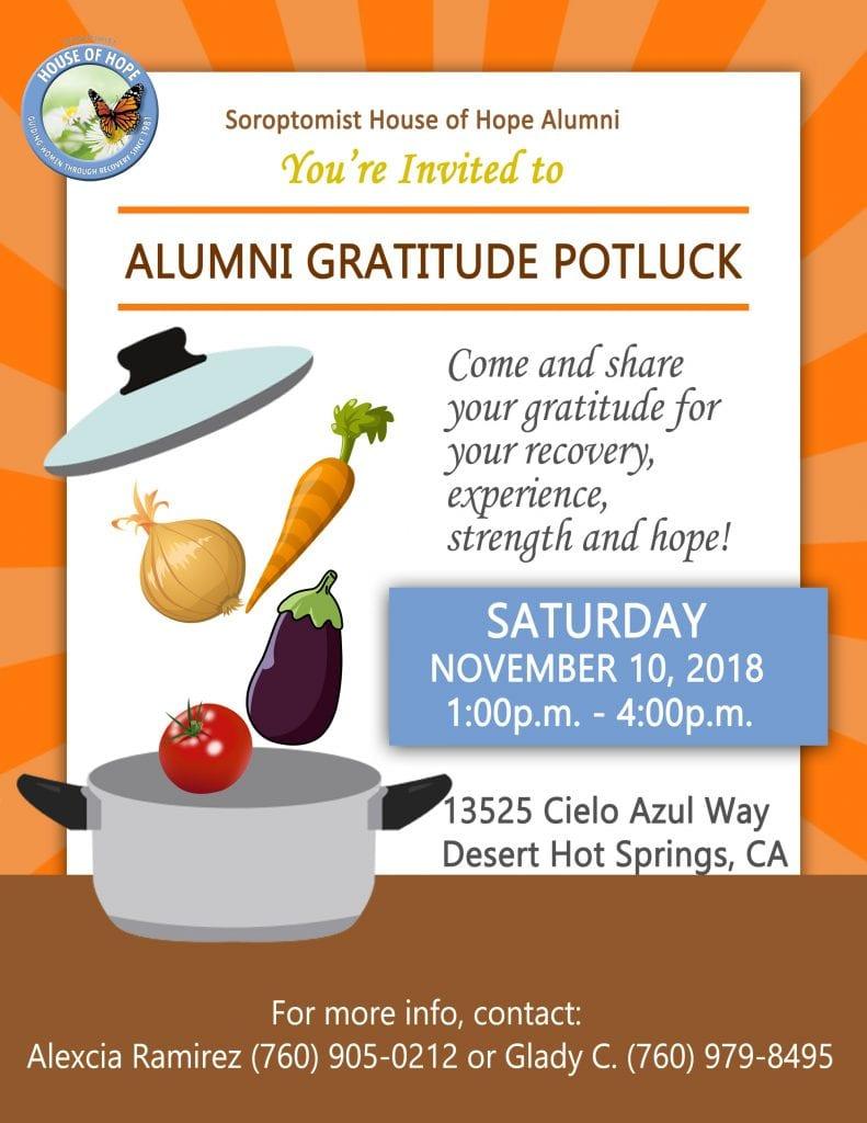 Alumni Potluck Flyer