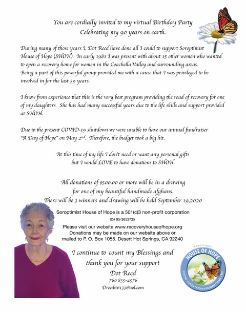 Dot's 90th Birthday Fundraiser